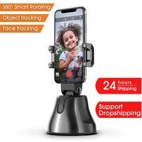 Apai Genie-Palo de selfi de disparo inteligente automático, soporte de seguimiento de objetos de 360 °, rotación todo en uno, soporte para teléfono con cámara de seguimiento facial