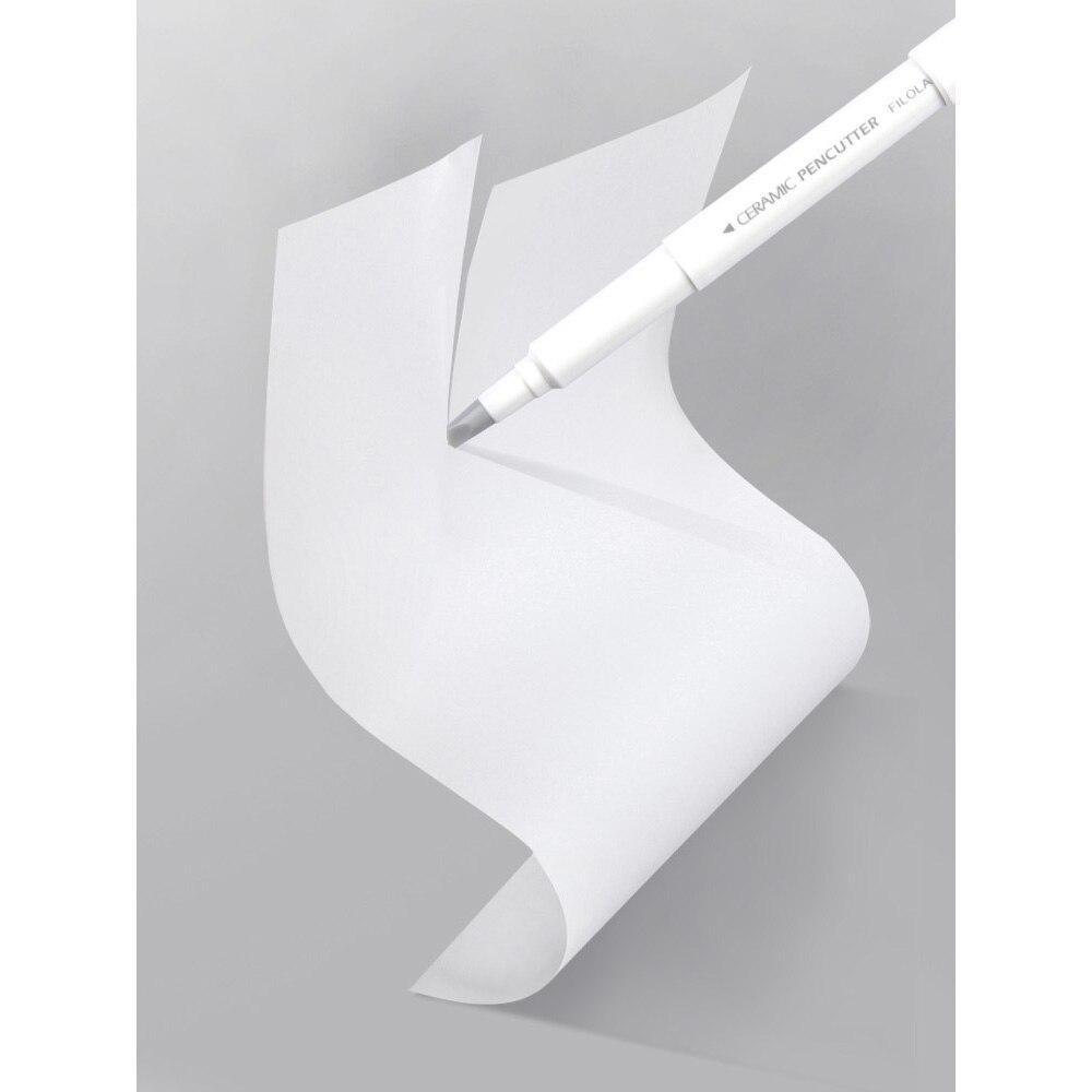 Creative Paper Pen Knife Wear-Resisting Newspaper Hand Book Paper Cutter Tape Ceramic Blade Cutting Knives 13cm