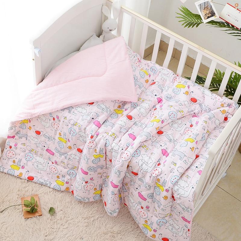 Cotton Gauze Baby Quilt Quilts Cover Filling Insert Microfiber Summer Cool Duvet For Child Bed Newborn Infant Kindergarten