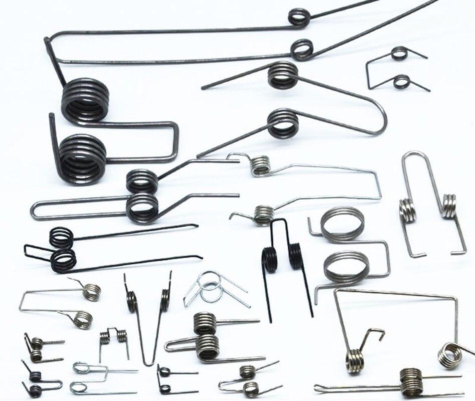 2 шт. многофункциональные пружины для кручения стали двойные пружины для кручения 1/1.1/1.2/1.4/1.8 мм диаметр проволоки DIY Новая оптовая цена