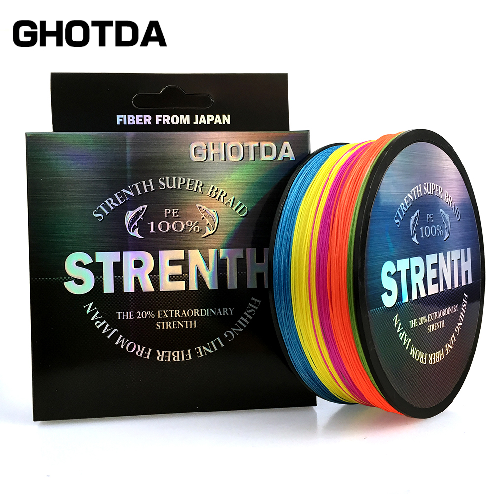 GHOTDA 9/8/4 Strands  Braided Fishing Lines PE 100M 4 Strand 8 Strand 9 Strand Weaves Multifilament Fishing Rope