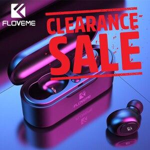 Image 1 - FLOVEME Kopfhörer Drahtlose Bluetooth Kopfhörer 3D Stereo Sound Sport Headset TWS 5,0 Mini Ohrhörer Dual Mikrofon