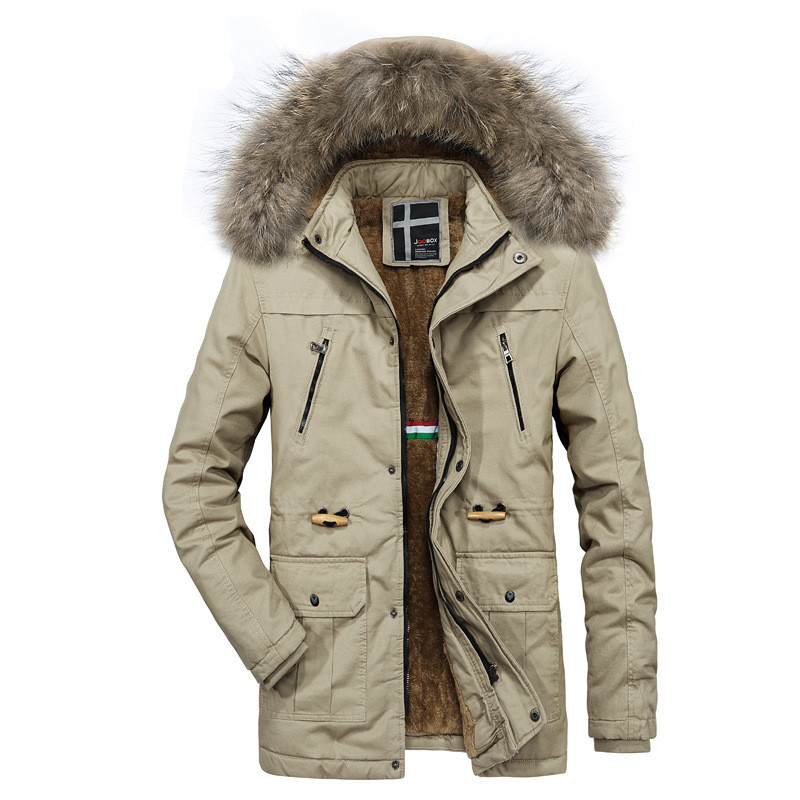 2020 New Arrive Winter Men's Jackets Parkas Casual Male Warm Thicken Hooded Fur Collar Coats Outwear Men Windproof Clothing