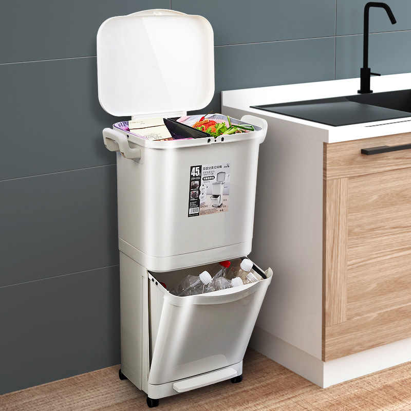 Trash Can Kitchen Waste Sorting