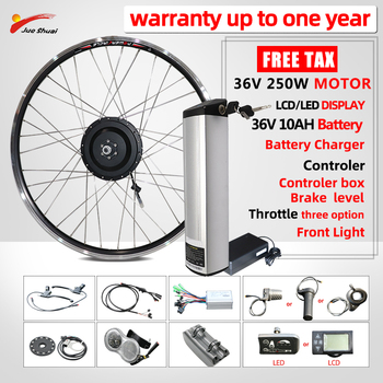Kit de conversión de bicicleta eléctrica, Motor de buje delantero y trasero,...