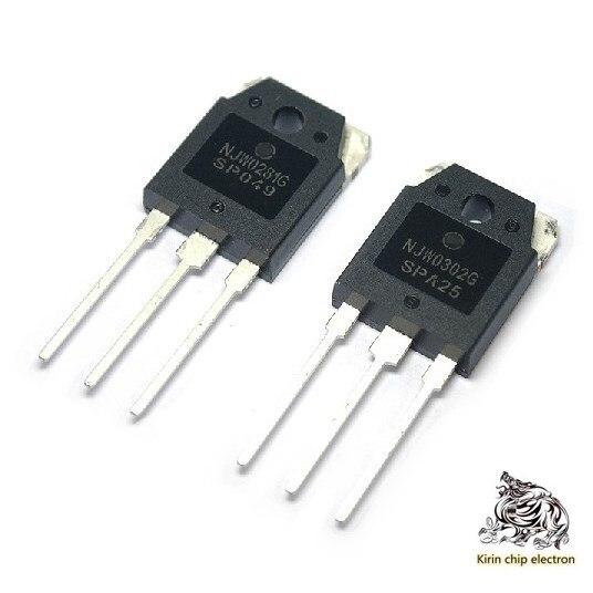 2pcs / Lot Brand New Original (1 Pair) Njw0302g Njw0281g High Power Original Sound Pipe