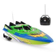 Радиоуправляемая Лодка на радиоуправлении, гоночный катер, Электрический корабль, радиоуправляемая высокоскоростная Водонепроницаемая игрушка для детей, подарок, без батареи