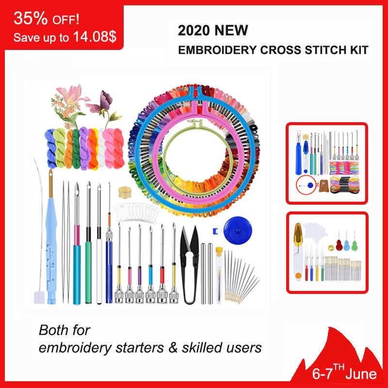 Lmdz Magic Borduren Pen Punch Naald Kit Craft Borduurgaren Kruissteek Borduren Hoepel Diy Naaien Accessoire Gereedschap Kit