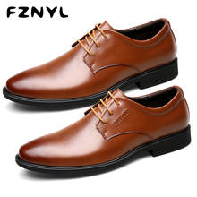 FZNYL Men's Handmade Leather Shoes Classic British Style Heightening Casual Derby Footwear for Working Business Wedding Party все цены