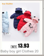 H711debbc38d9485aa3670ba93b865380v Baby boy girl Clothes 2019 New born Winter Hooded Rompers Thick Cotton Outfit Newborn Jumpsuit Children Costume toddler romper