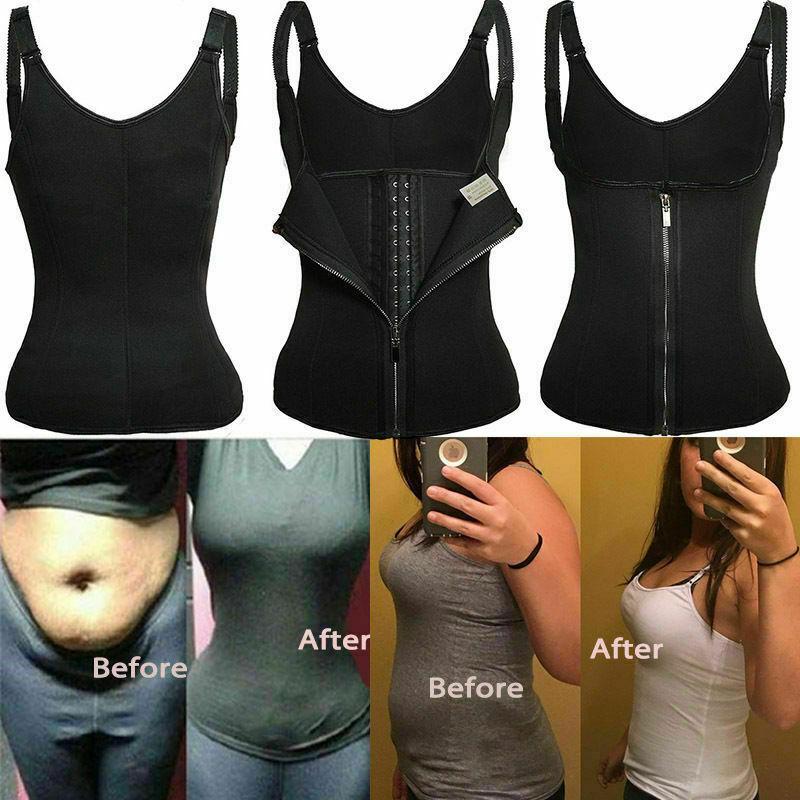Shapermint Women Waist Trainer Corset Zipper Vest Body Shaper Cincher Tank Tops