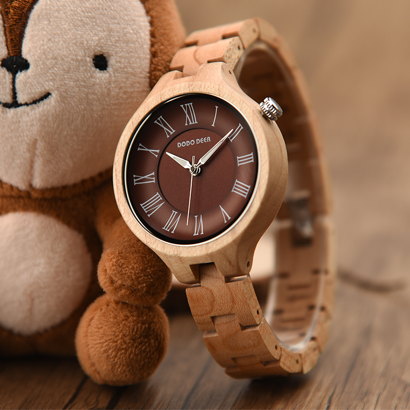 DODO DEER Ladies Simple Maple Fashion Watch