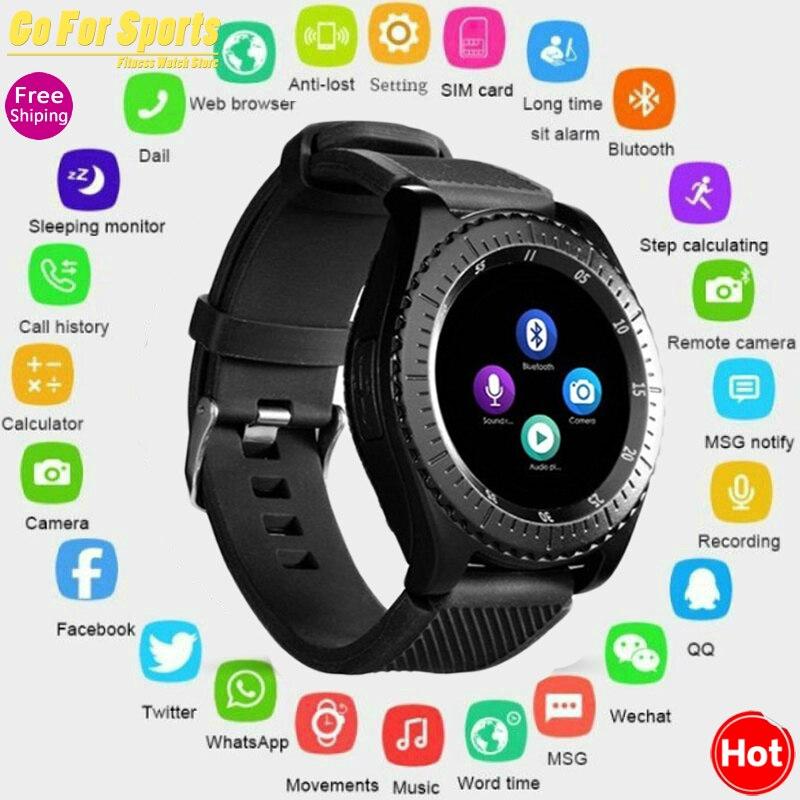 Mais novo relógio inteligente z3 bluetooth tela de toque pulseira couro relógio de pulso com câmera sim tf slot para cartão para android phonepk y1 v8 a1