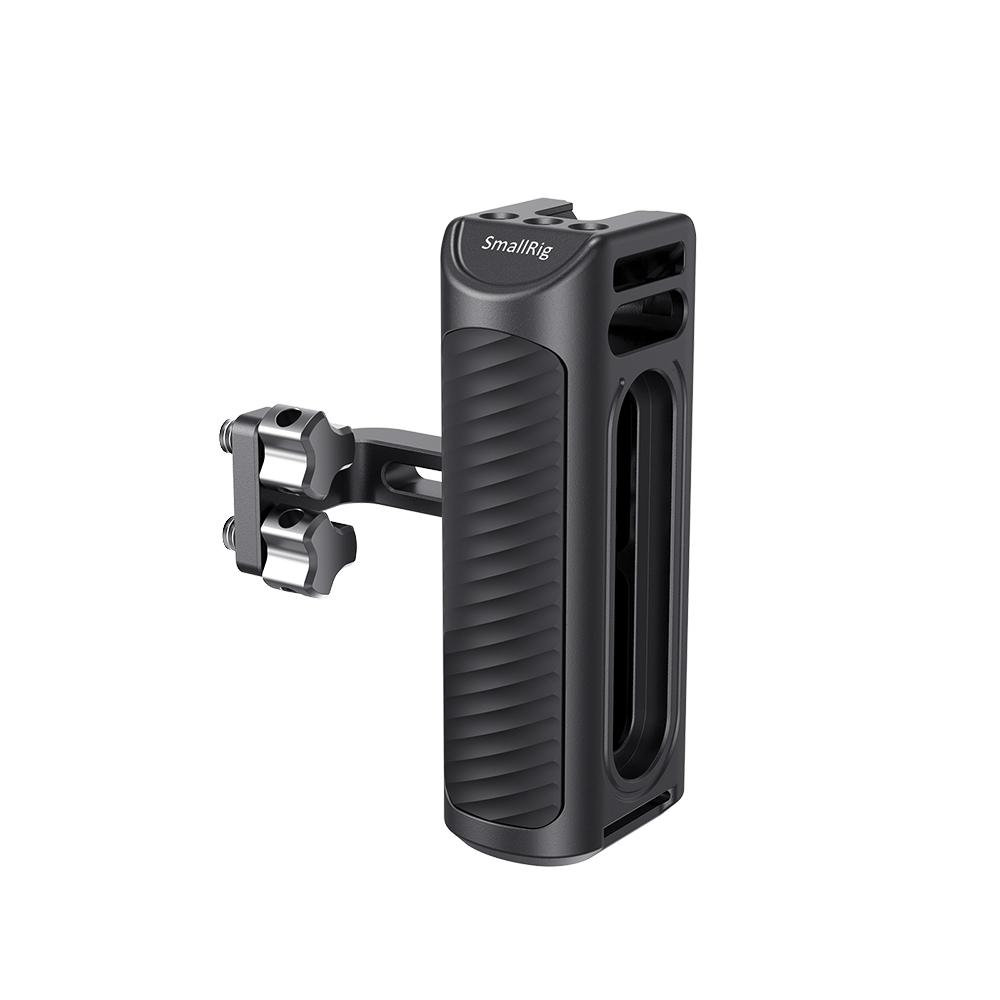 SmallRig Camera Hand Grip Aluminum Universal Side Handle With Cold Shoe Mount 1/4 Thread Holes For DIY Options 2425