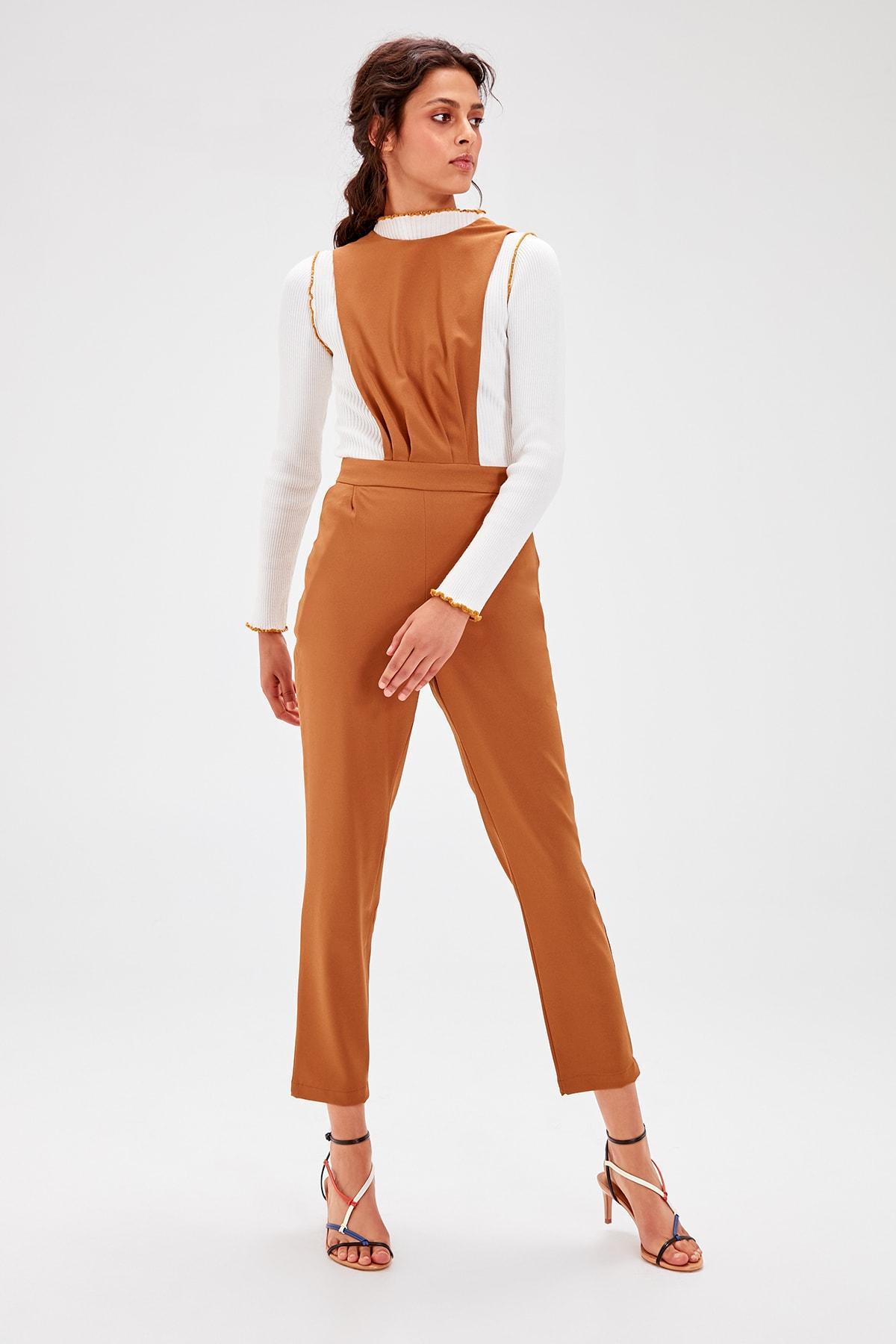 Trendyol Camel Suspenders Rompers TWOAW20TU0026