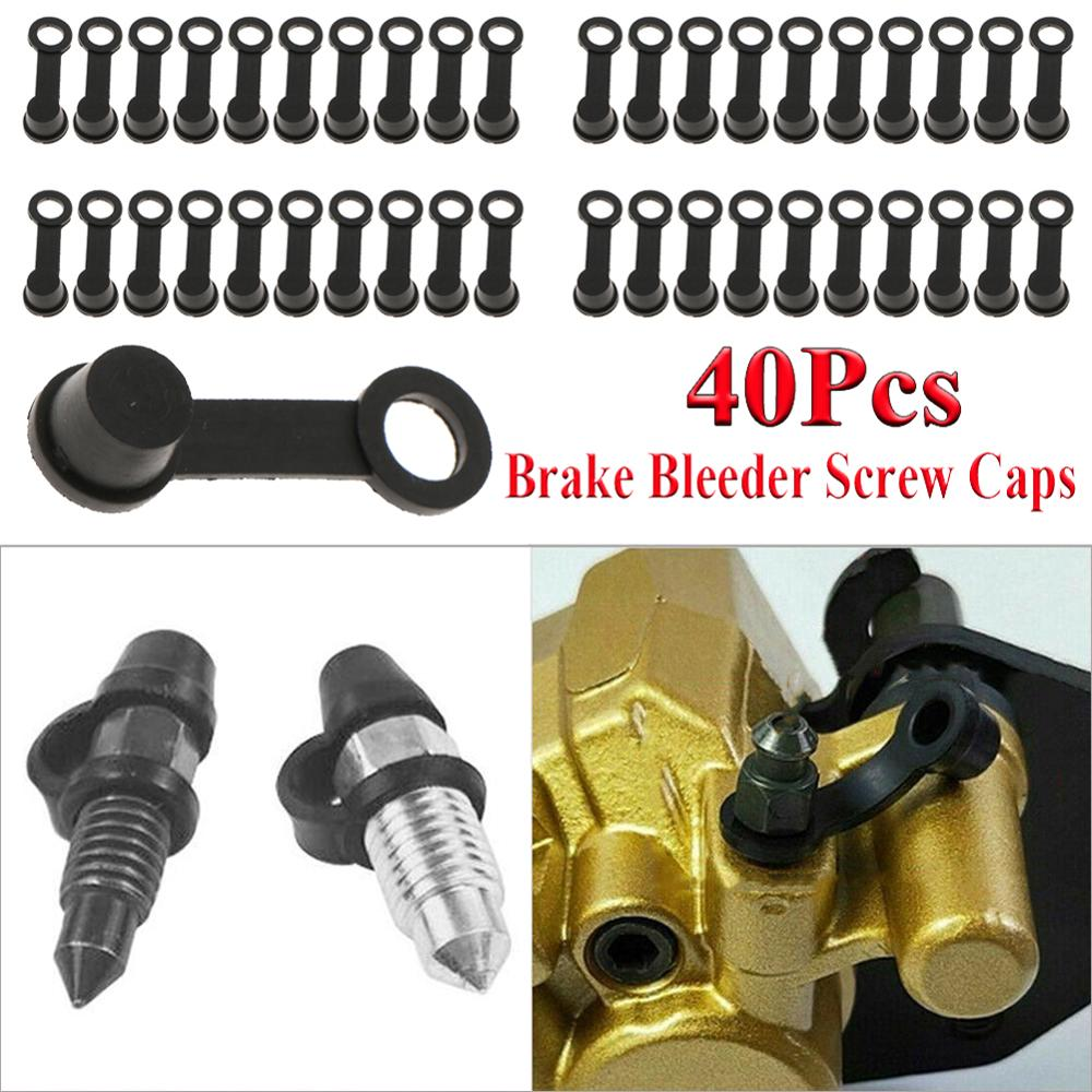 Factory Price 40pcs Brake Bleeder Screw Caps Grease Zerk Fitting Cap Rubber Dust Cover Carro Voiture Wholesale Quick Delivery