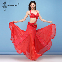 Belly Dance Mermaid Bra+Skirt Costume Set Sexy Women Orienta