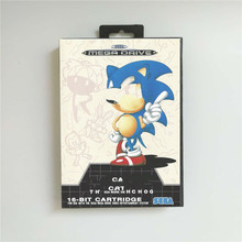 Soniced Game Hedgehog   EUR Cover With Box Megadrive Genesis 비디오 게임 콘솔 용 16 비트 MD 게임 카드