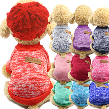 Dog Clothes Winter Warm Puppy Dog Jacket Coat Soft Dog Shirts Pet Dog Costumes Puppy Sweater For Chihuahua Yorkie Pet Supplies image