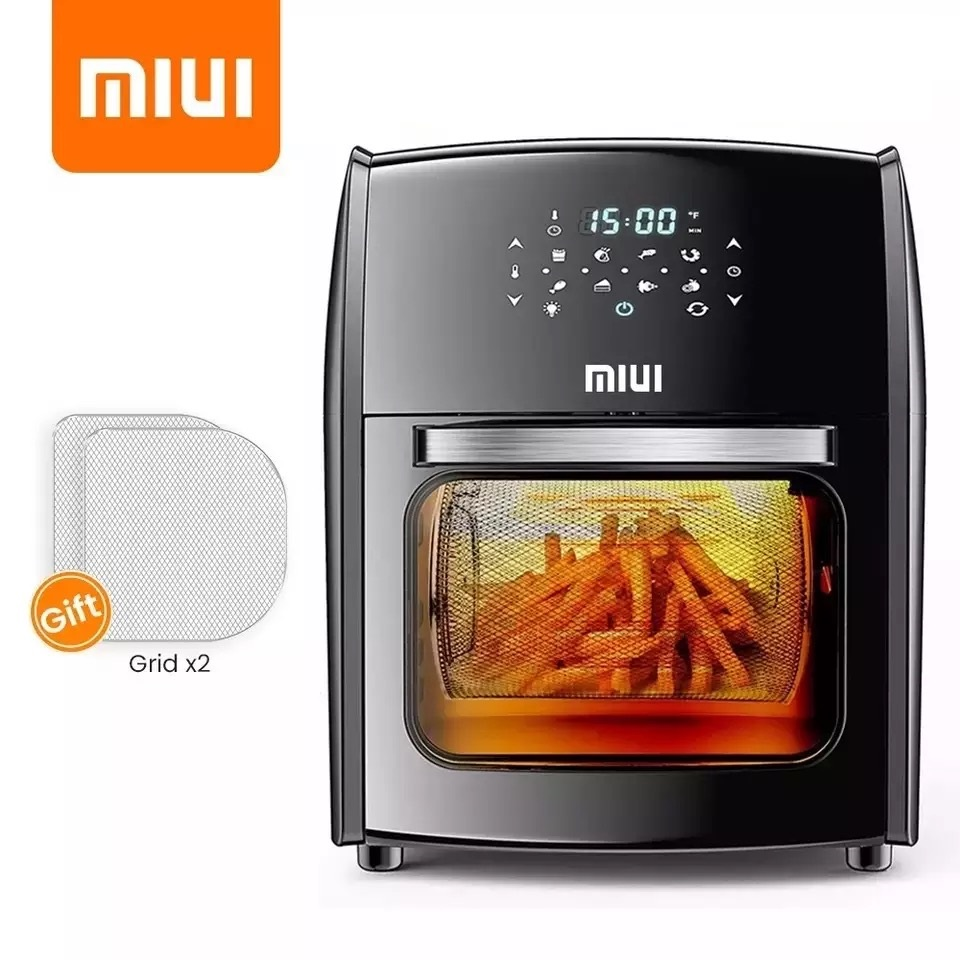 MIUI 10L/12.7QT Electric Air Fryer Oven MI CYCLONE Rotisserie Dehydrator LED Large Capacity Chicken Frying Machine 5in1