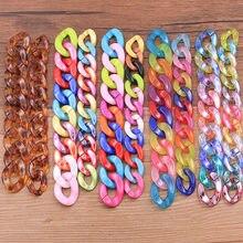 30 pçs 5 estilo mix cor acrílico resina corrente links diy brinco colar pulseira saco charme acessórios para fazer jóias