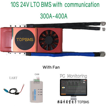 10S 24V LTO BMS 300A400A with Bluetooth phone APP RS485 CANbus NTC UART GPS for LTO Batteries 2.3V 2.4V connected in 10 series image