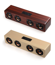 bluetooth speaker bamboo material rattle shape wireless sound box bass hifi music subwoofer with microphone and handmade craft Home Theatre HiFi Wooden Wireless Bluetooth Speaker Subwoofer Combination Speaker System Bass Music Center Sound Bar for TV PC