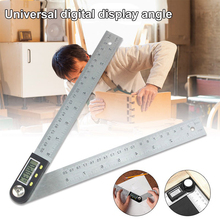 200mm Digital Protractor Inclinometer Goniometer Level Measuring Tool Electronic Angle Gauge Stainless Steel Angle Ruler New