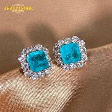 Jewepisode top quality paraiba tourmaline gemstone stud earrings