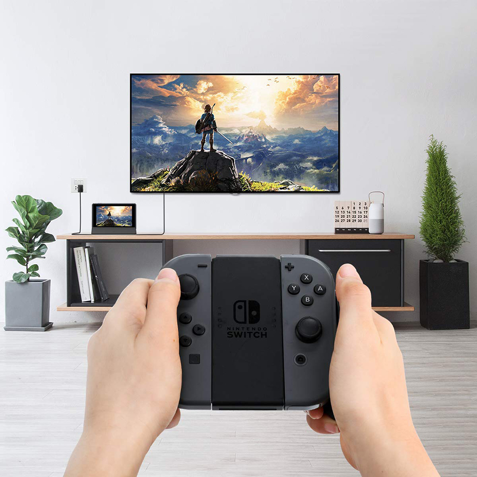 Vogek Portable Dock Station for Nintendo Switch with Type C to HDMI TV Adapter USB 3.0 2.0 Charging Docking Playstand Charger 2