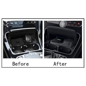 Image 3 - 10W auto QI drahtlose ladegerät handy ladegerät lade fall zubehör für Mercedes Benz W205 AMG C43 C63 GLC43 GLC63 x253 C Klasse
