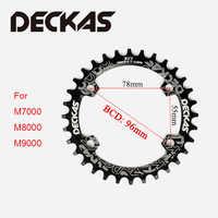 DECKAS Engen Breite Kettenblatt 96BCD-S MTB Kette ring Road Fahrrad Runde Oval kurbel mountainbike 32-38T Fit SHIMANO XTR, XT, SLX