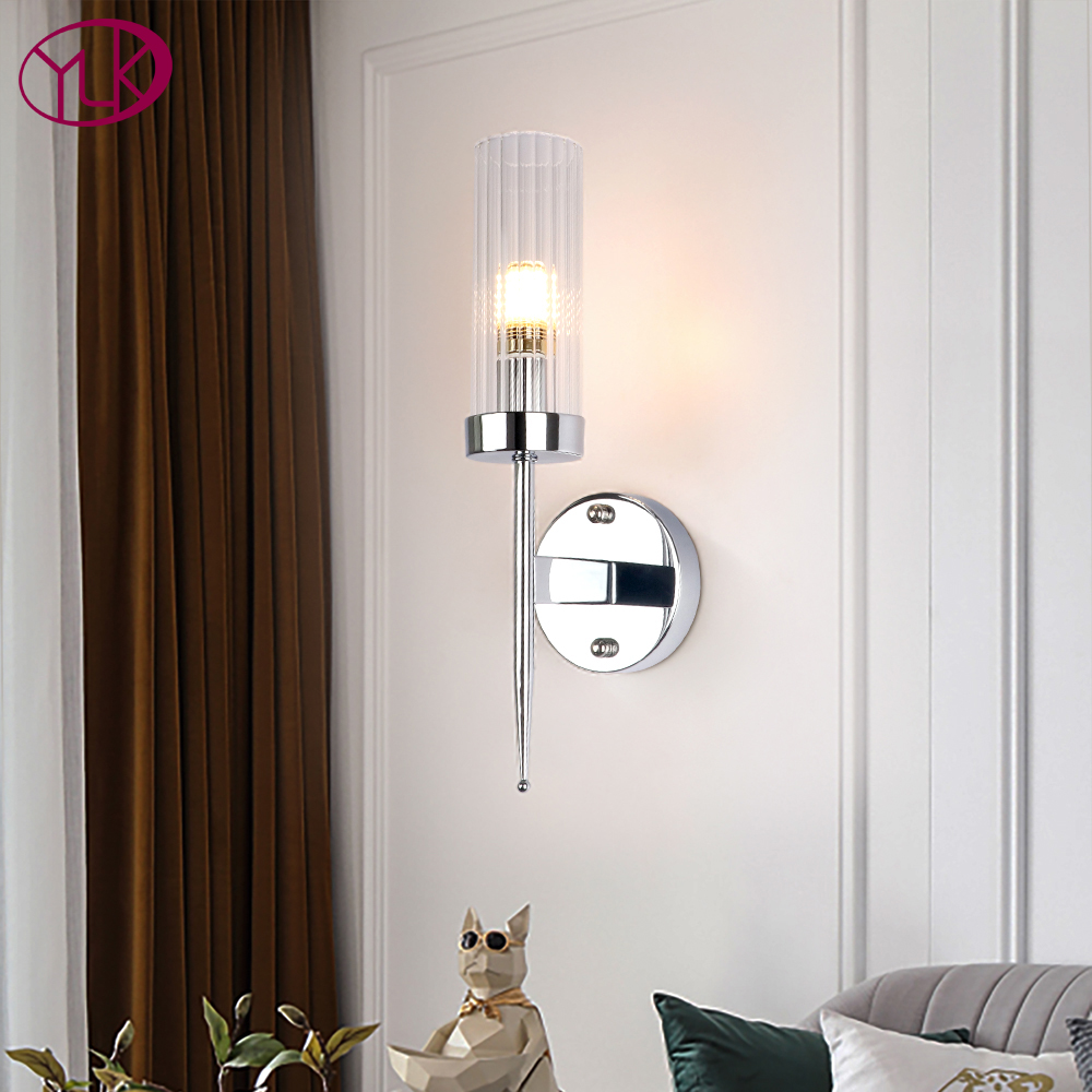 Modern Single Light Wall Sconces Lighting Gold Bronze Chrome Wall Light Bedroom Bedside Living Room Led Wall Lamps Led Indoor Wall Lamps Aliexpress