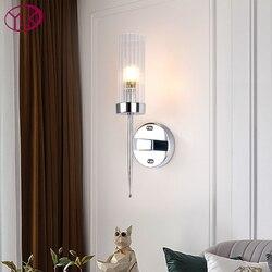 Nowoczesna pojedyncza lampa kinkiety ścienne oświetlenie złoto-brąz/chrom ściana światło sypialnia nocna salon lampy ścienne led