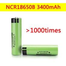 100% Original NCR18650B-3400mAh Lithium-ionen-akku 3,7 V 18650 batterie 3400mAh + Kostenloser versand