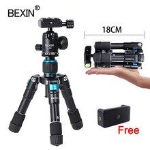 Bexin flexível mesa de trabalho smartphone telefone fotografia bolso tripé suporte portátil compacto mini tripé para câmera iphone