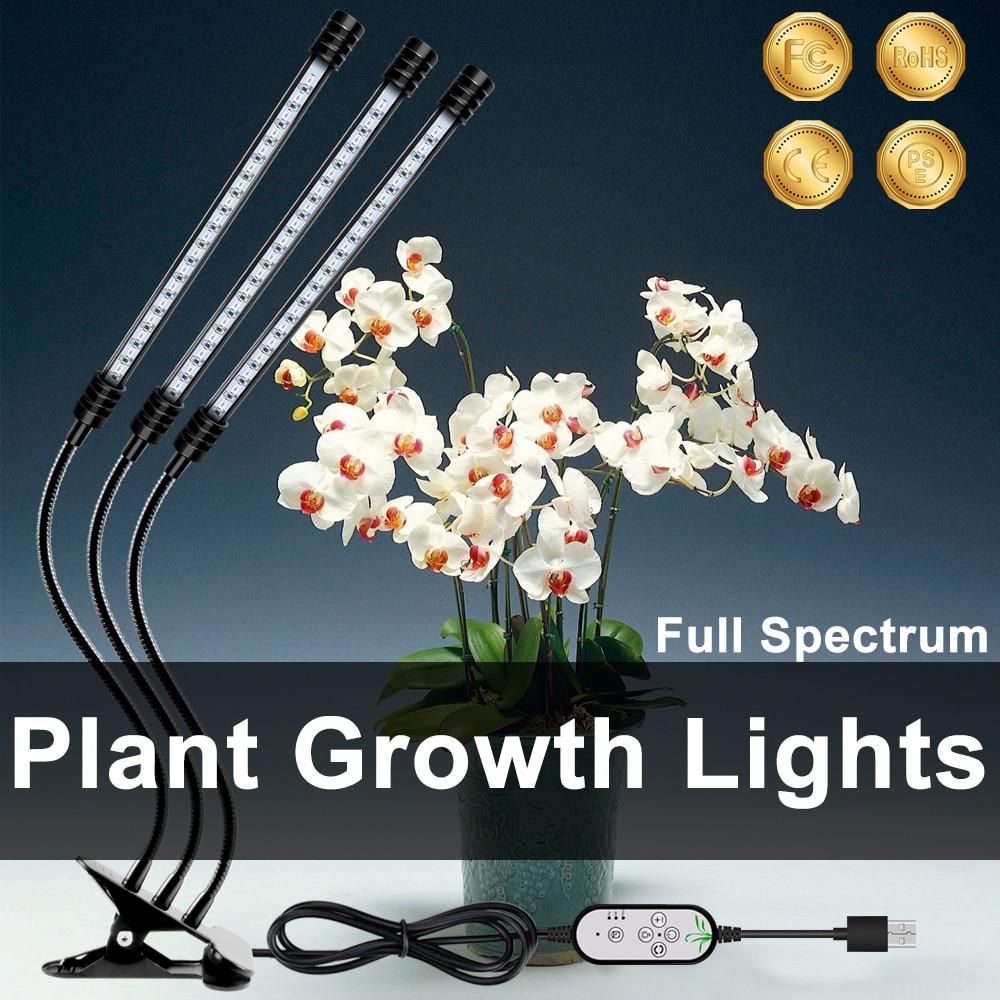 WENNI Plant LED Light Hydroponics Grow Light USB LED Lamp Full Spectrum Indoor Growth LED Greenhouse Flower Seedling Phyto Lamp