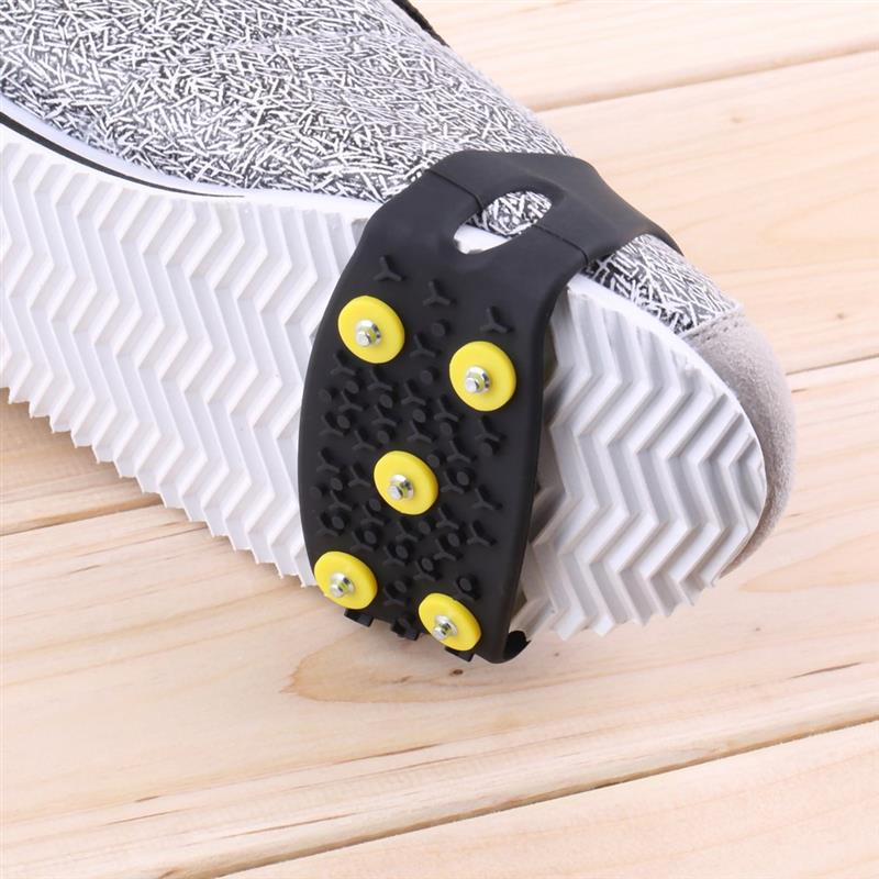 Shoes Cover Non Slip Snow Ice Climbing Spikes Grips Crampon Cleats 5 Stud For Men And Women|  - title=