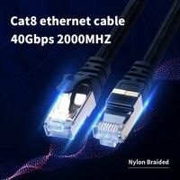 Cat8-Cable Ethernet de alta velocidad, Cat7 para Router Cable Lan, Pc, Ps4, Tv, portátil, RJ45, SSTP, UTP, 40Gbps