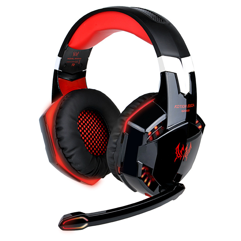 Gaming Headset Computer Esports PS4 Headphones Wired with Wheat Illuminated Three Colors Optional