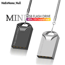 цена на Super mini usb flash drive 2.0 flash memory stick 32GB 4GB 8GB 16GB pendrive metal pen drive 64GB cle usb 128GB Free custom logo