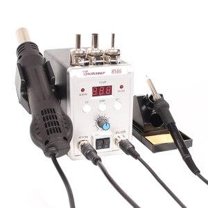 Image 2 - はんだステーション 8586 760 ワット 2 で 1 デジタルディスプレイ smd リワーク熱風銃はんだアイアン 220 220v の esd 溶接はんだ修復ツール
