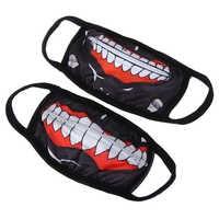 1PCS Cotton Dustproof Mouth Face Mask Anime Zipper Cartoon Kpop Fashion Women Men Face Mouth Masks