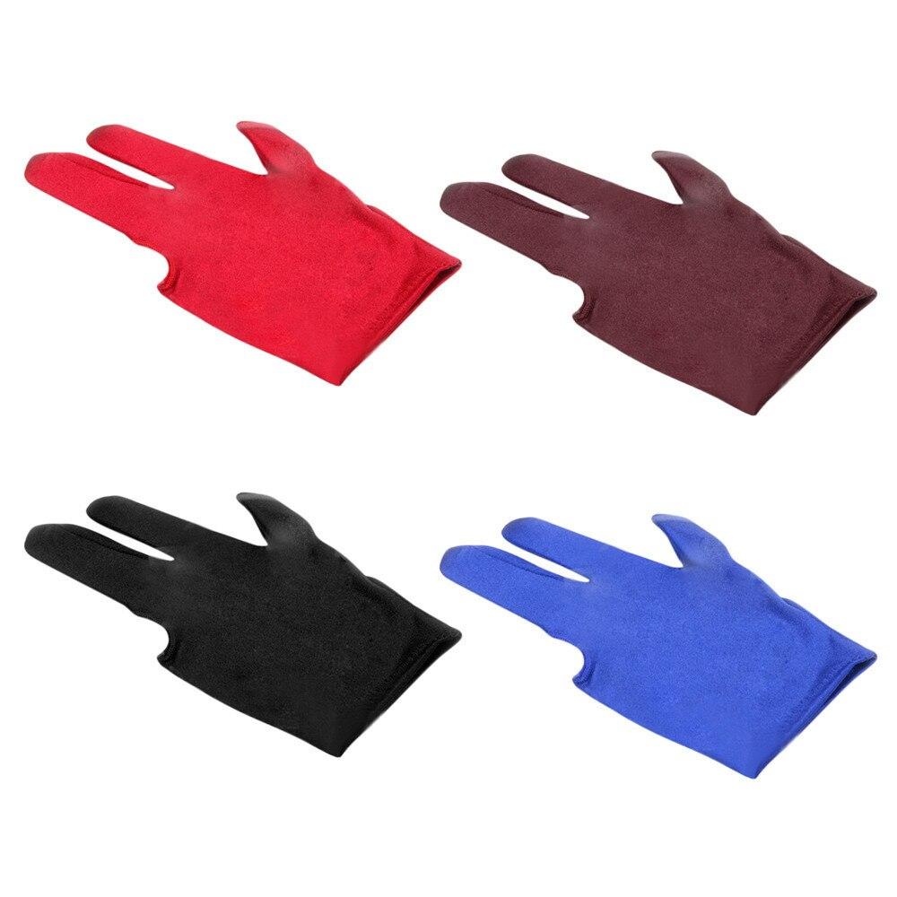 Blue Spandex Snooker Billiard Cue Glove Pool Left Hand Three Finger Accesso`US