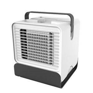 USB охладитель воздуха мини портативный кондиционер увлажнитель воздуха очиститель Светильник Настольный вентилятор охлаждения воздуха дл...