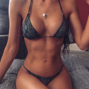 Snake Bikini Sexy Bikini Set Swimwear 2019 Swimsuit Femme Biquini Micro Bikinis Mini Swimming Suit For Women Maillot De Bain