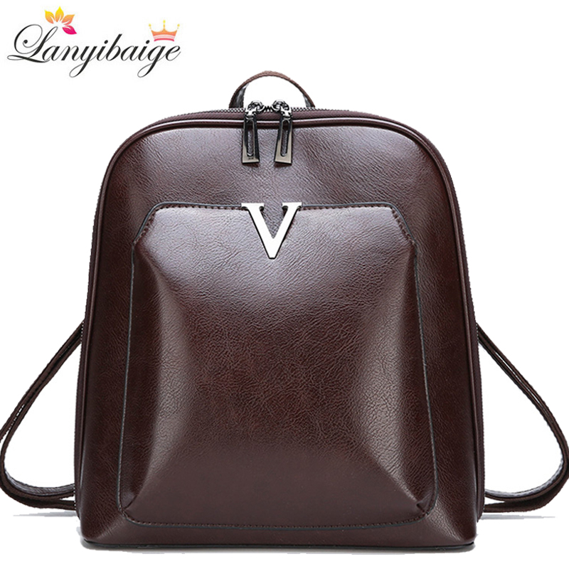 2020 New Vintage Backpack Women High Quality Pu Leather Travel Backpack Large Capacity School Bags For Girls Mochila Feminina