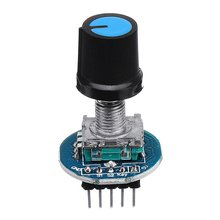 цена на Rotary Encoder Module for Arduino Brick Sensor Development Round Audio Rotating Potentiometer Knob Cap