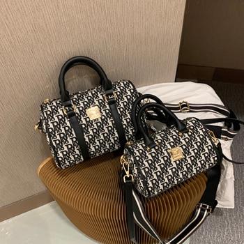 Shoulder bags for women 2020 new with wide crossbody strap luxury designer fashion canvas ladies mahjong female shopper handbags