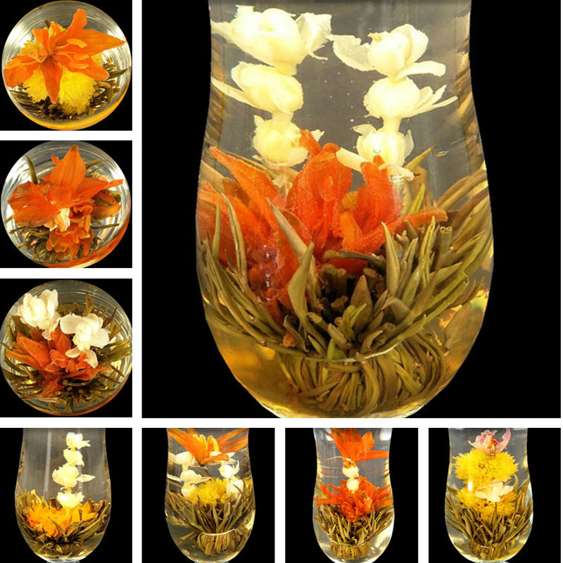 140g 16 Kinds of Handmade Blooming Flower Tea China Ball blooming flower herbal tea Artistic the tea for health care products 1